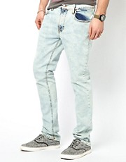 Nudie Jeans Thin Finn Skinny Fit Bleached Wash
