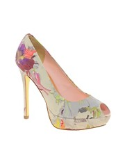Ted Baker Fluuri Printed Peep Toe Shoes
