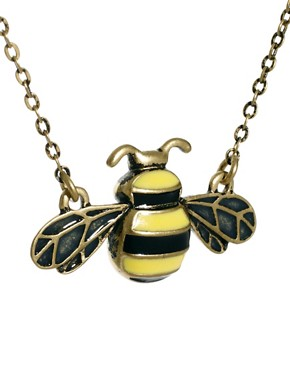 Image 4 ofCath Kidston Bumble Bee Enamel Tiny Pendant