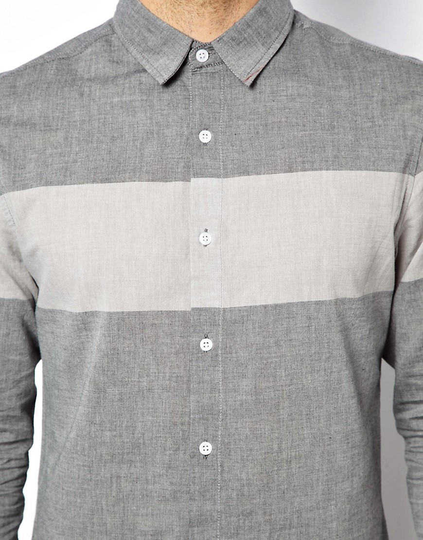 Image 3 of New Look Oxford Shirt in Block Print