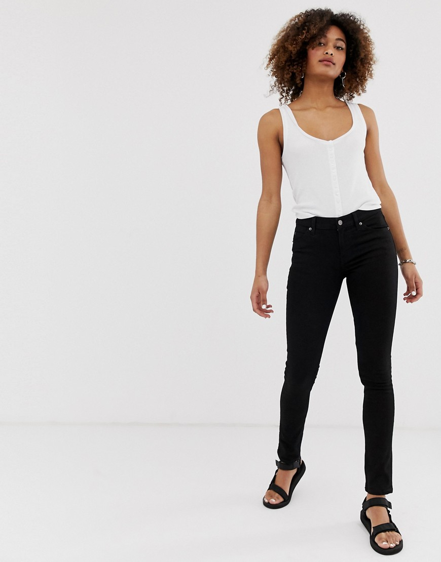 Cheap Monday Mid Rise Skinny Jean - New black