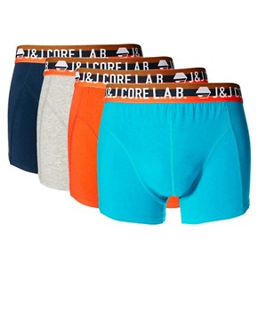 Image 1 ofJack &amp; Jones Page 4 Pack Trunks