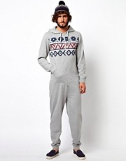 ASOS Onesie With Aztec Chest Print