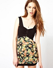 Wal G Dress With Oranges And Lemons Print