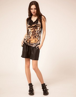 Image 4 ofTraffic People Sheer Top With Tiger Print