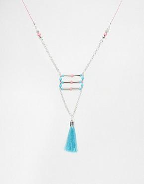 Warehouse Neon Tassle Necklace