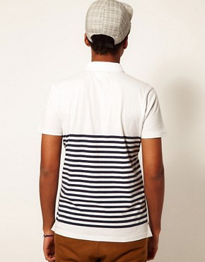 Image 2 ofBoxfresh Polo Breton Stripe Kaashiff