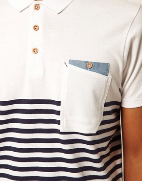 Image 3 ofBoxfresh Polo Breton Stripe Kaashiff