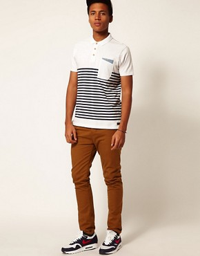 Image 4 ofBoxfresh Polo Breton Stripe Kaashiff