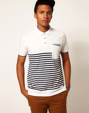 Image 1 ofBoxfresh Polo Breton Stripe Kaashiff