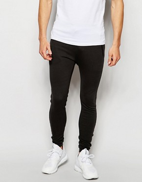 ASOS Super Skinny Joggers With Zip Detail
