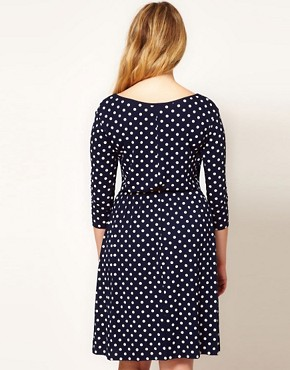 Image 2 ofASOS CURVE Exclusive Spot Skater Dress