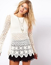 ASOS Crochet Village Jumper