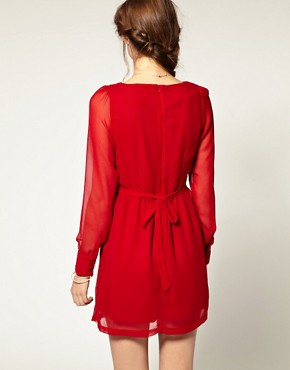 Image 2 ofPepe Jeans Ruffle Front Dress