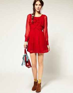 Image 4 ofPepe Jeans Ruffle Front Dress