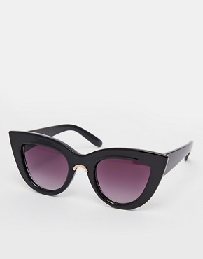 ASOS Flat Top Cat Eye Sunglasses With Metal Nose Insert