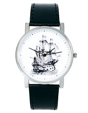 ASOS Watch With Ship Print