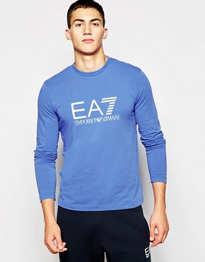 EA7 T-Shirt In Muscle Fit With Large Logo Print