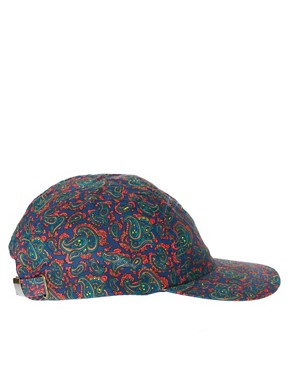 Image 4 ofASOS 5 Panel Cap with Paisley Detail
