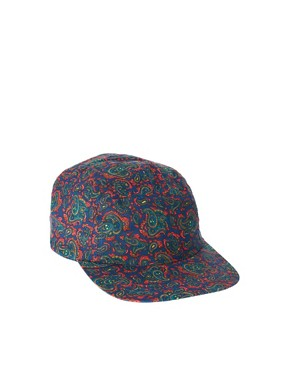 Image 1 ofASOS 5 Panel Cap with Paisley Detail