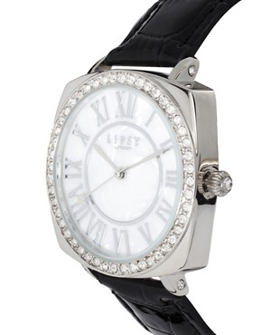 Image 2 ofLipsy Diamante Dial Croc Strap Watch