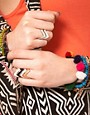 Image 2 ofASOS Pack of Zig Zag Rings