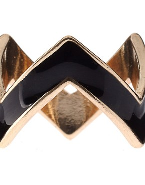Image 3 ofASOS Pack of Zig Zag Rings