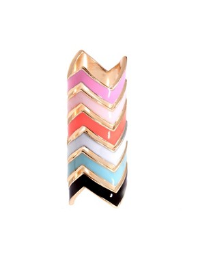 Image 1 ofASOS Pack of Zig Zag Rings