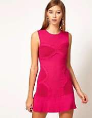 Alice McCall Rope Bust Detail Body Con Knitted Dress