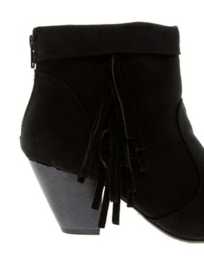 Image 2 ofNew Look Fringey Western Heeled Ankle Boots