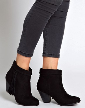 Image 3 ofNew Look Fringey Western Heeled Ankle Boots