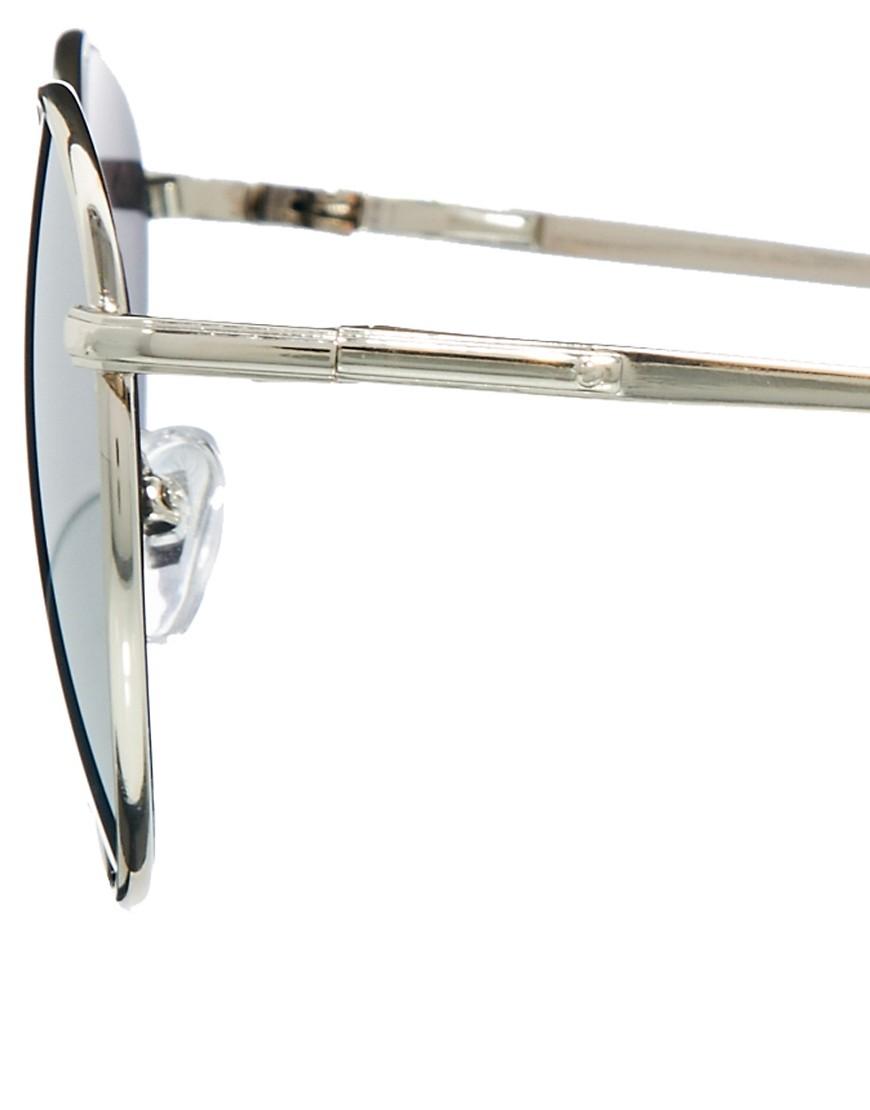Image 4 ofASOS Metal Round Sunglasses with Mirror Lens