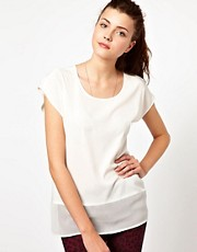 Vero Moda Mesh Hem T-Shirt