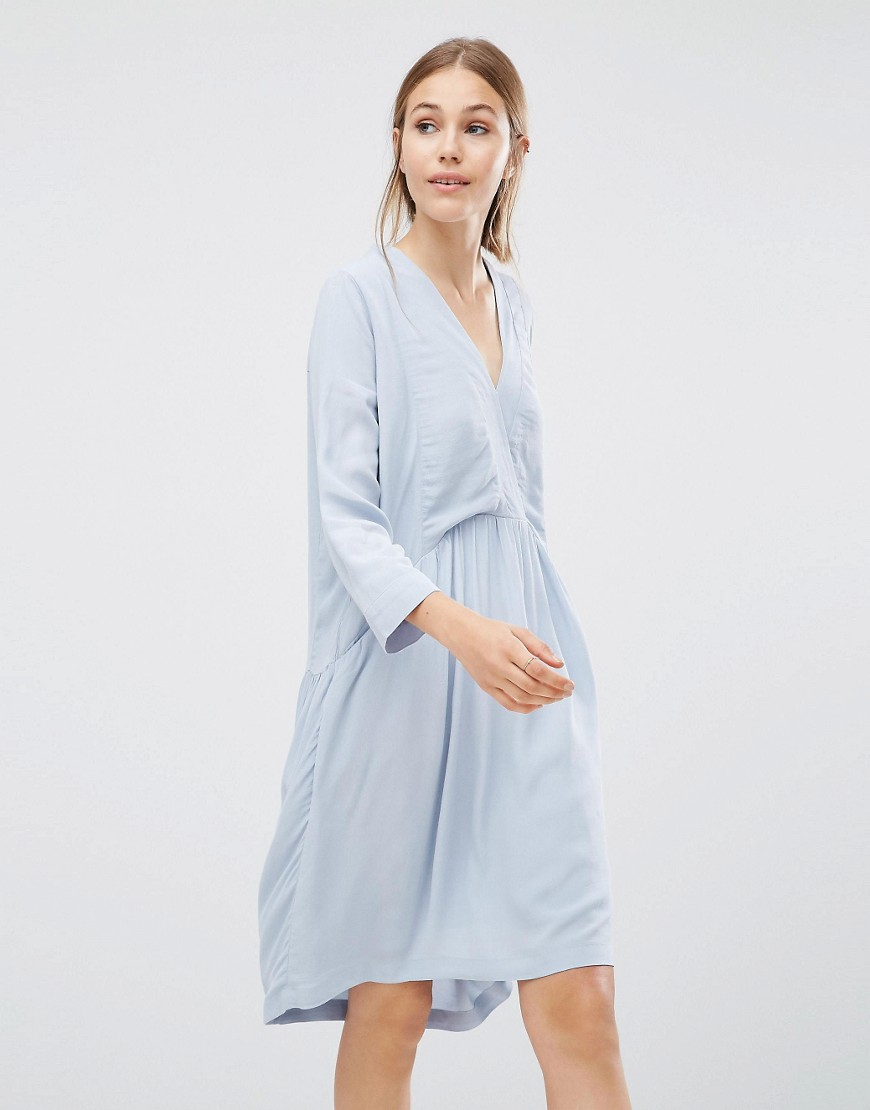 Just Female Lola Smock Dress - Blue