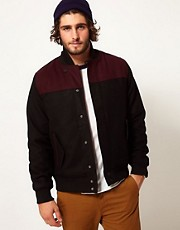 D-Struct Wool Bomber Jacket
