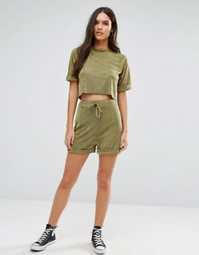 Boohoo Slinky Short Co Ord