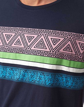 Image 3 ofASOS T-Shirt With Aztec Stripe