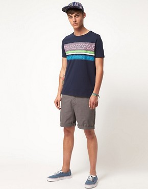 Image 4 ofASOS T-Shirt With Aztec Stripe