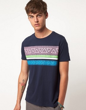Image 1 ofASOS T-Shirt With Aztec Stripe