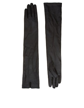 Image 1 ofASOS Long Leather Gloves
