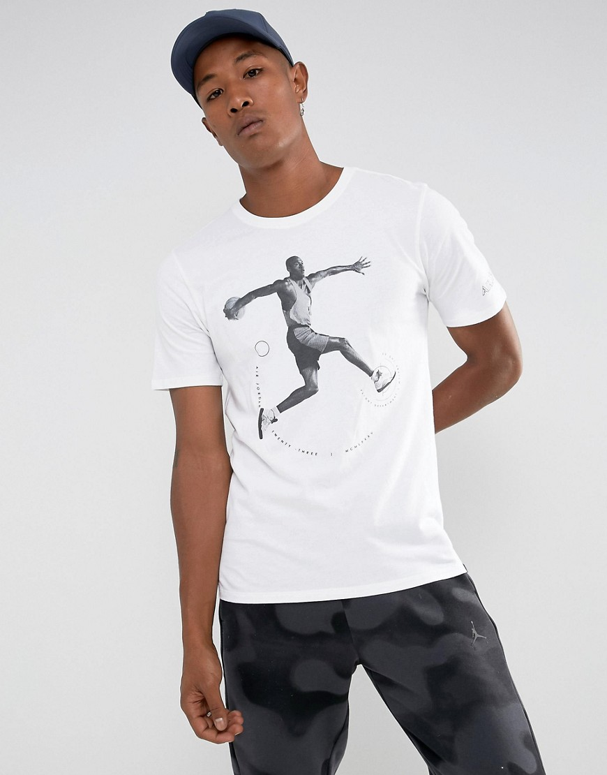 Nike Jordan AJ5 T-Shirt In White 864923-100 - White