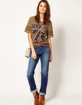 Image 4 ofTrue Religion Santa Fe 71 Tee with Shirt Sleeves
