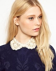 Johnny Loves Rosie Embellished Lace Collar