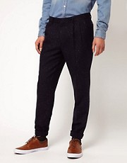 ASOS Slim Fit Pleated Tweed Suit Trousers