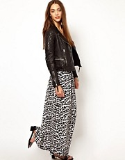 Whistles Safari Leopard Maxi Skirt