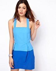 BZR Two Tone Dress with Cross Back Straps