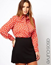 ASOS CURVE Exclusive Shirt in Spot