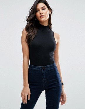 ASOS The Turtle Neck Body In Rib