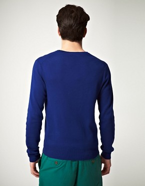 Image 2 ofPolo Ralph Lauren Slim Fit Pima Cotton V Neck Jumper