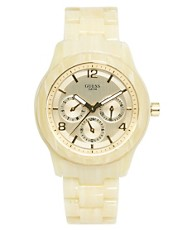 Guess Mini Spectrum Ladies Watch with Round Face and Resin Strap